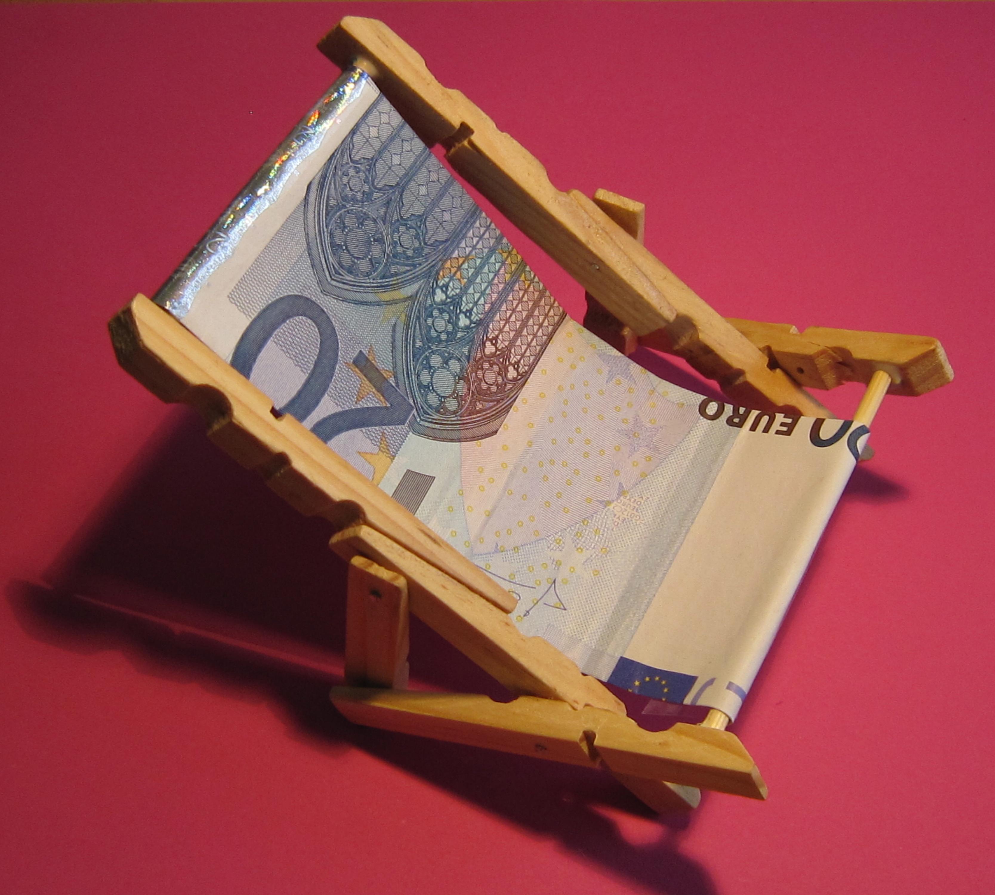 Liegestuhl - Geldgeschenke verpacken - Witzige Ideen zum Verpacken von ...