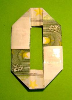 Zahl 0 Zahlen Aus Geldscheinen Geldgeschenke Basteln De