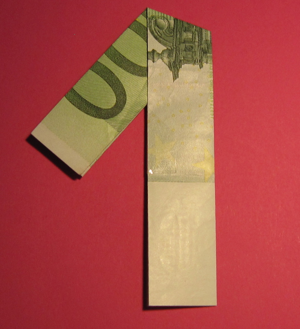 Zahl 1 Zahlen Aus Geldscheinen Geldgeschenke Basteln De