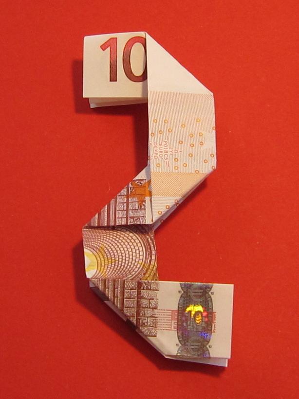 Zahl 2 Zahlen Aus Geldscheinen Geldgeschenke Basteln De