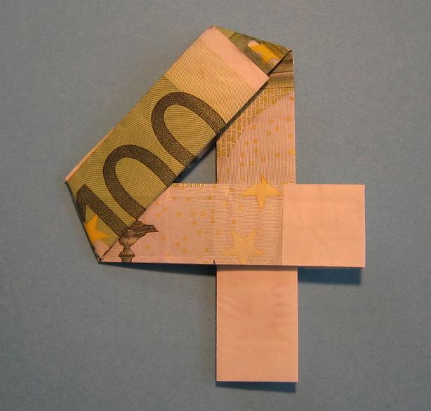 einen geldschein falten