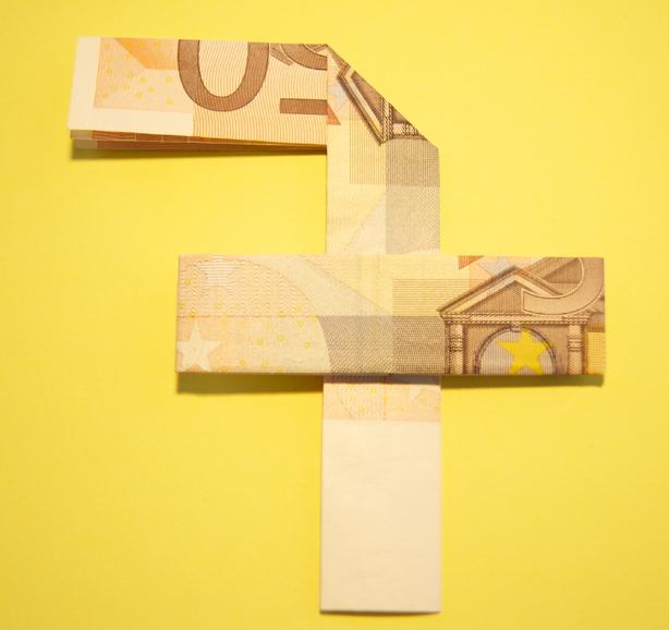 Zahl 7 Zahlen Aus Geldscheinen Geldgeschenke Basteln De